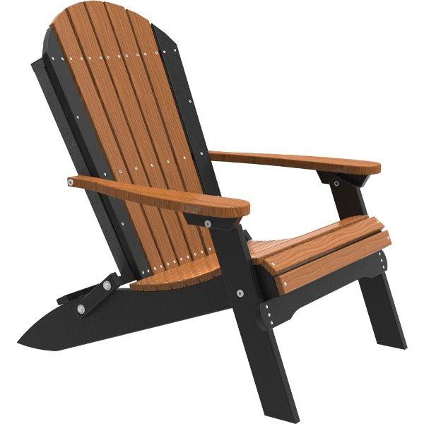 Folding Adirondack Chair Adirondack Chair Antique Mahogany & Black