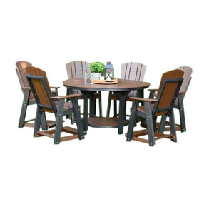 "Heritage  60"" Pub Table Set With 6 Balcony Chairs"