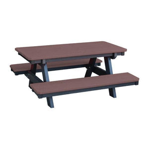 Little Cottage Co. Heritage Child's Picnic Table Wildwood Bark-Black