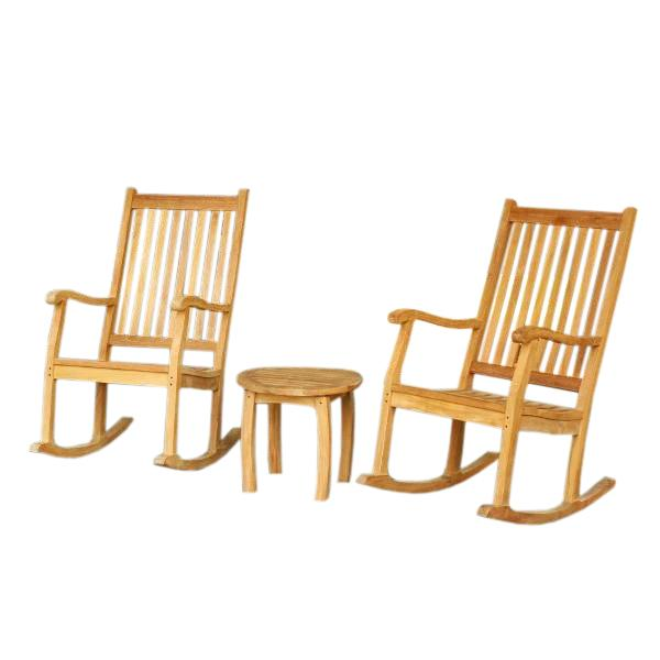 Jakarta Rocking Chair Set (2 Rockers & 1 Side Table)