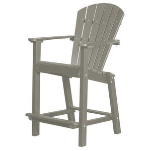 "Little Cottage Co. Classic 26"" High Dining Chair Dining Set Light Grey"