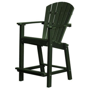 "Little Cottage Co. Classic 26"" High Dining Chair Dining Set Turf Green"