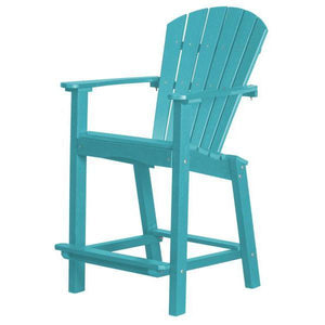 "Little Cottage Co. Classic 30"" High Dining Chair Dining Chair Aruba Blue"