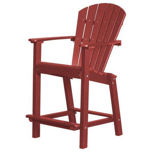 "Little Cottage Co. Classic 30"" High Dining Chair Dining Chair Cardinal Red"
