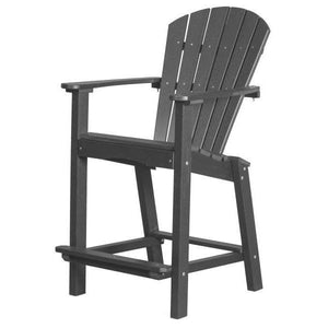 "Little Cottage Co. Classic 30"" High Dining Chair Dining Chair Dark Grey"