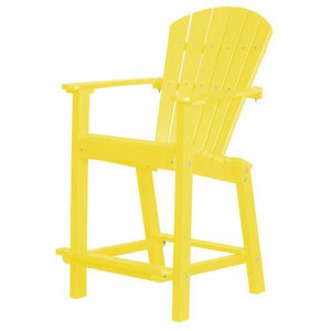 "Little Cottage Co. Classic 30"" High Dining Chair Dining Chair Lemon Yellow"
