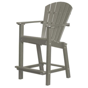 "Little Cottage Co. Classic 30"" High Dining Chair Dining Chair Light Grey"