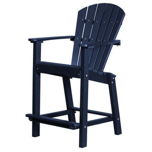 "Little Cottage Co. Classic 30"" High Dining Chair Dining Chair Patriot Blue"