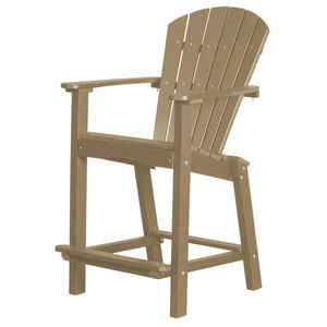 "Little Cottage Co. Classic 30"" High Dining Chair Dining Chair Weathered Wood"