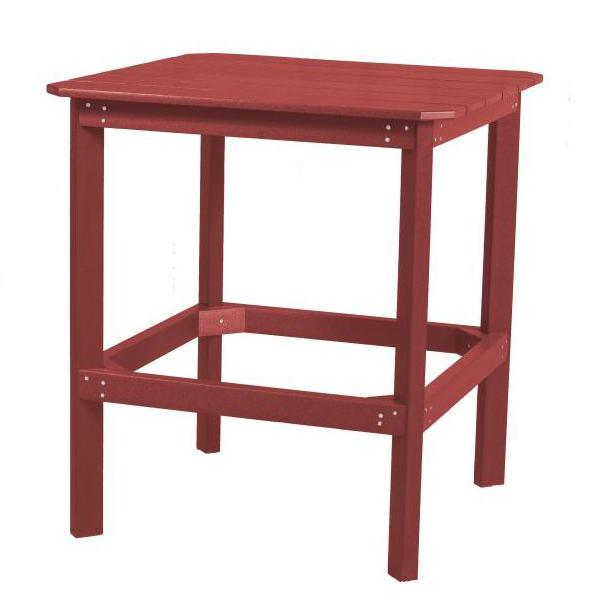 "Little Cottage Co. Classic 38"" High Dining Table Dining Table Cardinal Red"