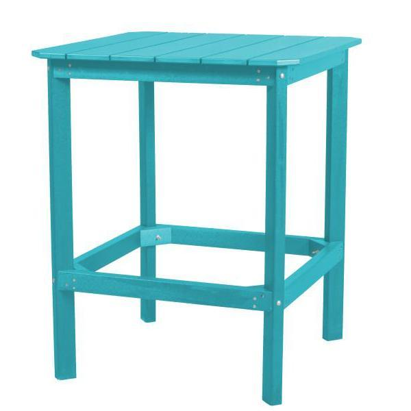 "Little Cottage Co. Classic 42"" High Dining Table Dining Table Aruba Blue"