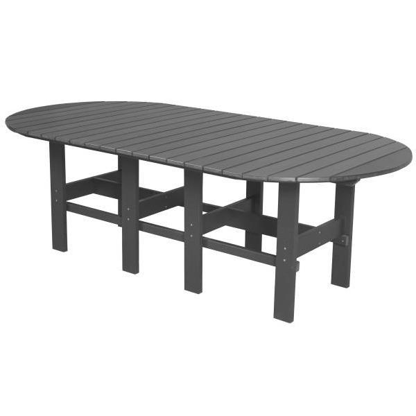 "Little Cottage Co. Classic 44""x84"" Table Table Dark Gray"