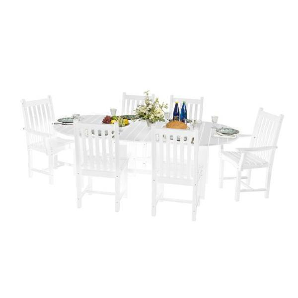 "Little Cottage Co. Classic 44""x84"" Table with 6 Side Chairs Dining Set White"