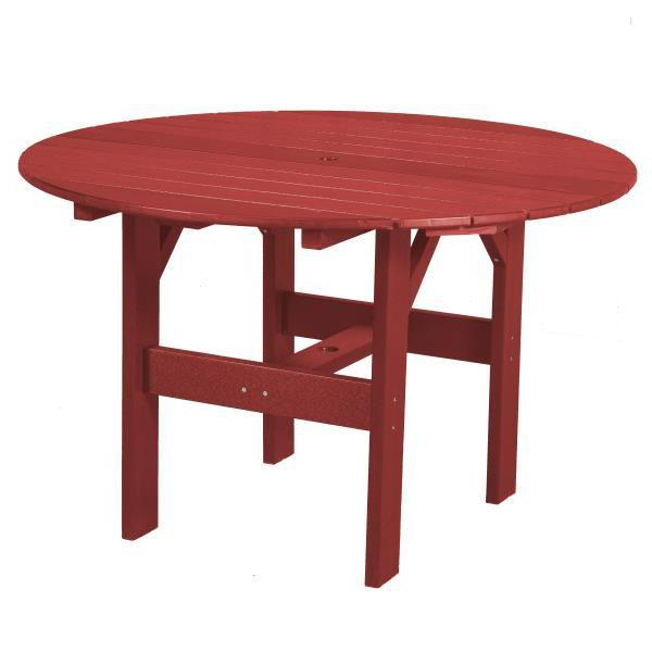 "Little Cottage Co. Classic 46"" Round Table Round Table Cardinal Red"