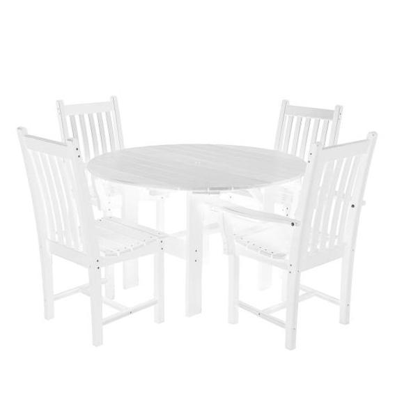 "Little Cottage Co. Classic 46"" Round Table W/4 Side Chairs Dining Set White"