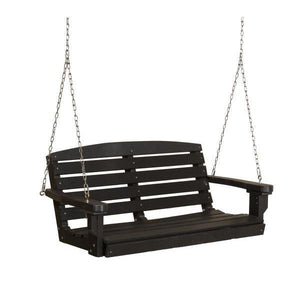 Little Cottage Co. Classic 4ft. Plastic Porch Swing Porch Swings Black / No