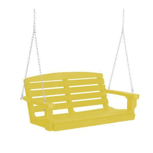 Little Cottage Co. Classic 4ft. Plastic Porch Swing Porch Swings Lemon yellow / No