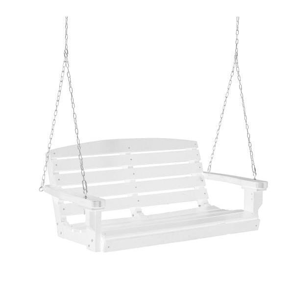Little Cottage Co. Classic 4ft. Plastic Porch Swing Porch Swings White / No