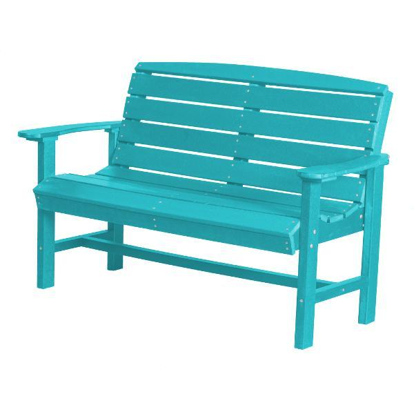 Little Cottage Co. Classic 4ft Recycled Plastic Bench Garden Benches Aruba Blue