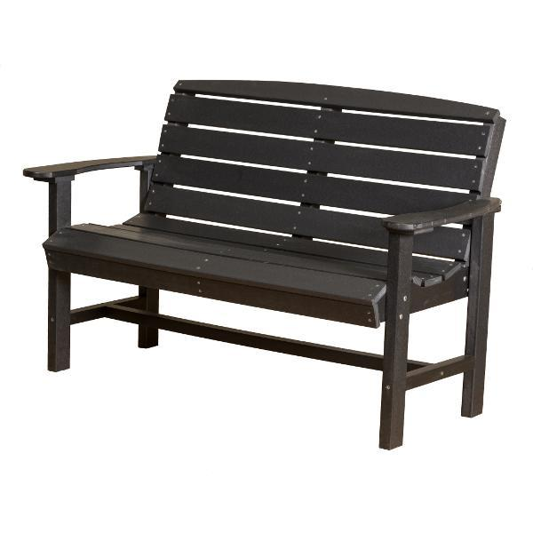 Little Cottage Co. Classic 4ft Recycled Plastic Bench Garden Benches Black