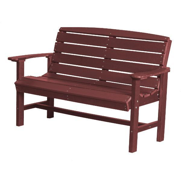 Little Cottage Co. Classic 4ft Recycled Plastic Bench Garden Benches Cherry Wood