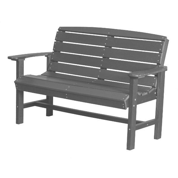 Little Cottage Co. Classic 4ft Recycled Plastic Bench Garden Benches Dark Gray