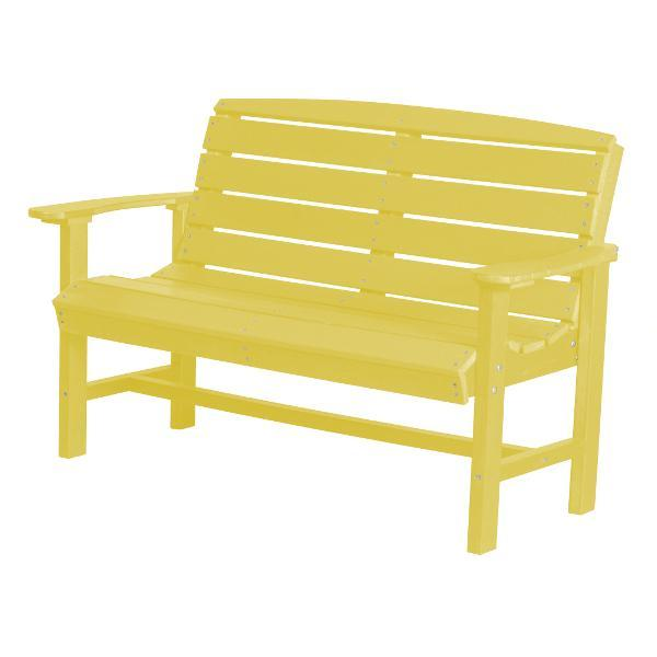 Little Cottage Co. Classic 4ft Recycled Plastic Bench Garden Benches Lemon Yellow