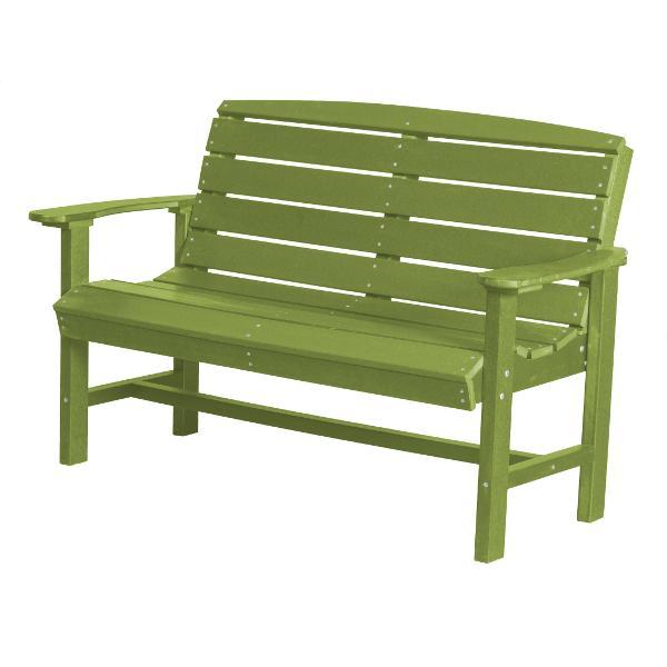Little Cottage Co. Classic 4ft Recycled Plastic Bench Garden Benches Lime Green