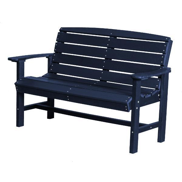 Little Cottage Co. Classic 4ft Recycled Plastic Bench Garden Benches Patriot Blue