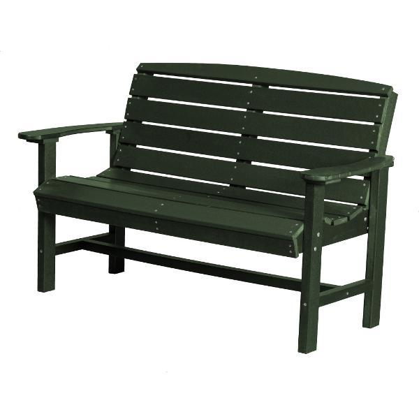 Little Cottage Co. Classic 4ft Recycled Plastic Bench Garden Benches Turf Green