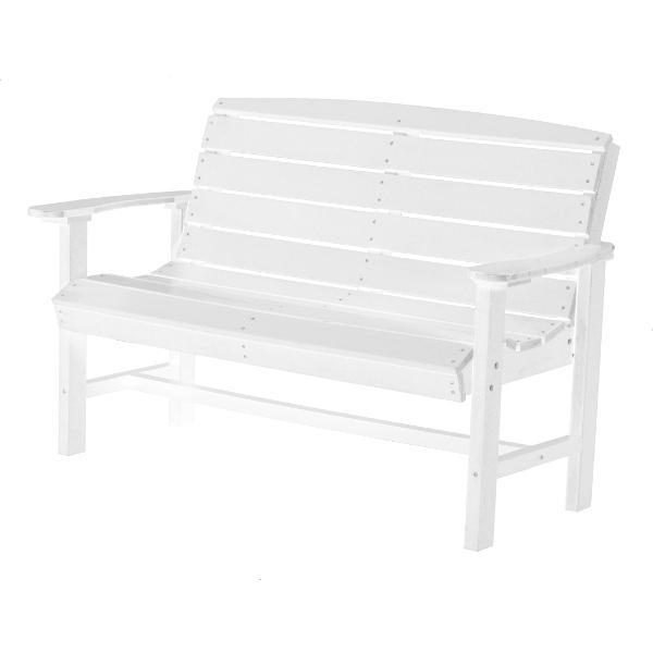 Little Cottage Co. Classic 4ft Recycled Plastic Bench Garden Benches White