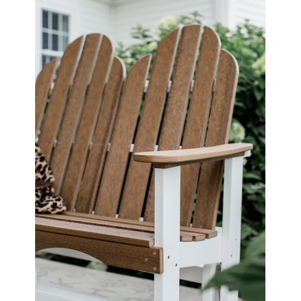 Little Cottage Co. Classic Adirondack 4' Glider Solid Resin Gliders Aruba