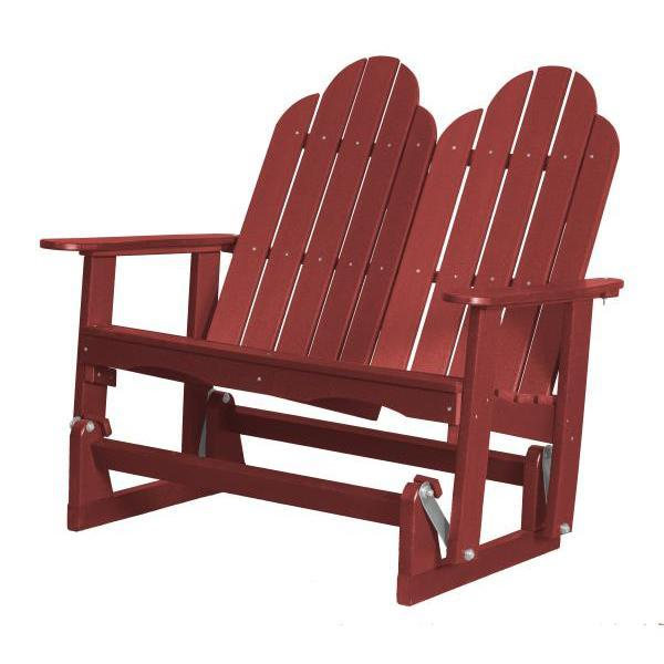 Little Cottage Co. Classic Adirondack 4' Glider Solid Resin Gliders Cardinal Red