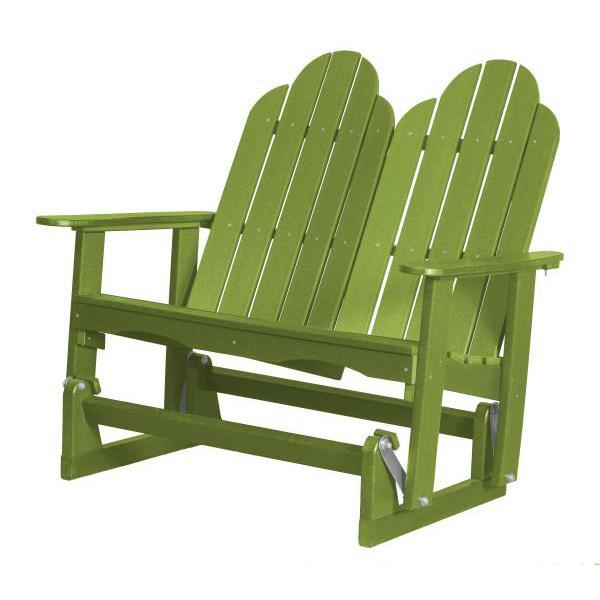 Little Cottage Co. Classic Adirondack 4' Glider Solid Resin Gliders Lime