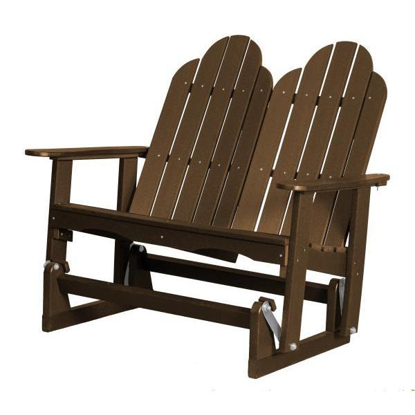 Little Cottage Co. Classic Adirondack 4' Glider Solid Resin Gliders Tudor Brown