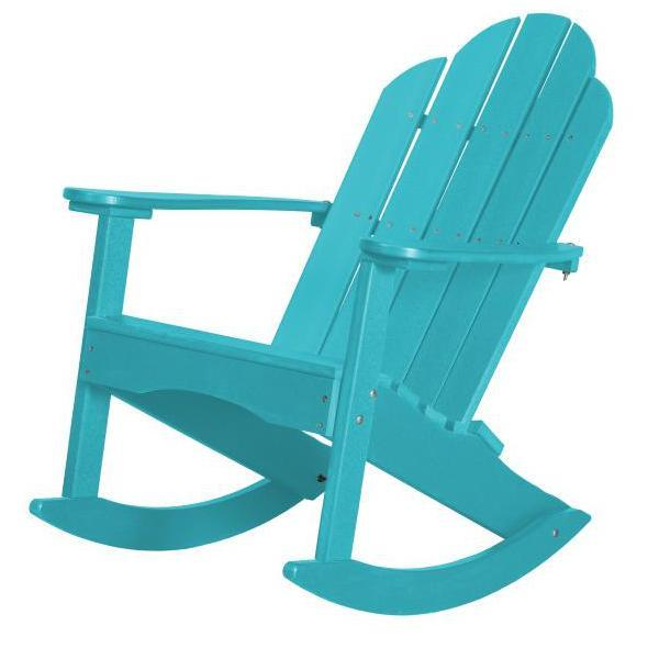 Little Cottage Co. Classic Adirondack Rocker Chair Aruba Blue