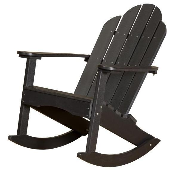 Little Cottage Co. Classic Adirondack Rocker Chair Black