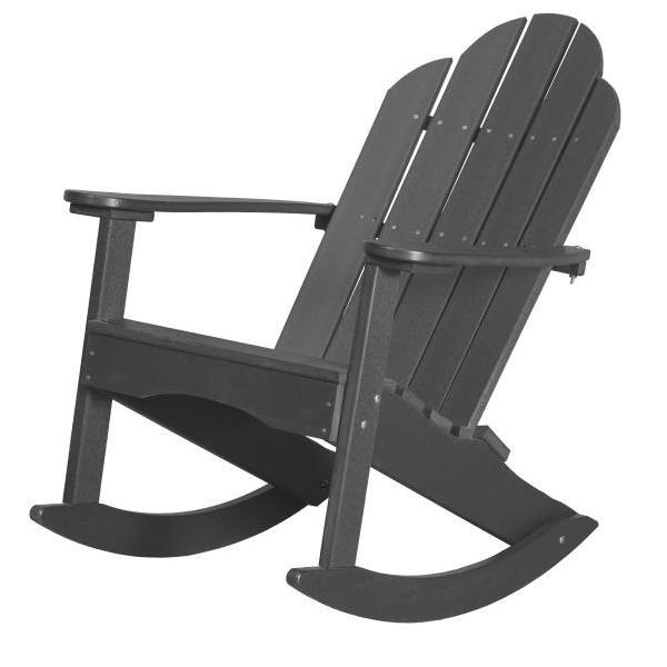 Little Cottage Co. Classic Adirondack Rocker Chair Dark Gray