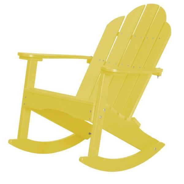Little Cottage Co. Classic Adirondack Rocker Chair Lemon Yellow