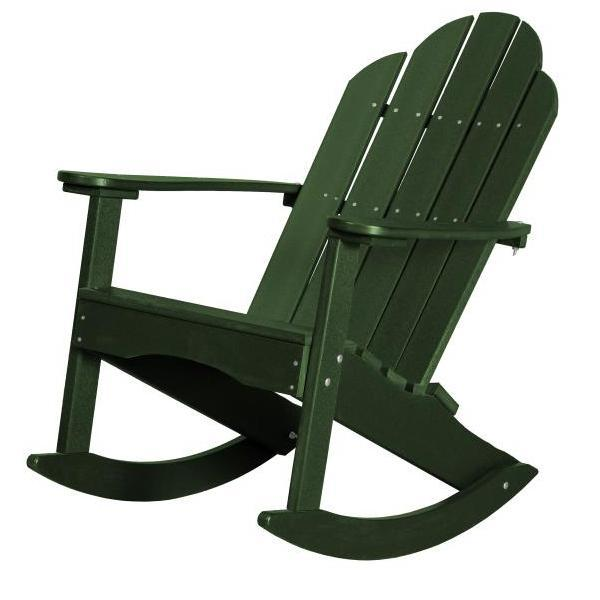 Little Cottage Co. Classic Adirondack Rocker Chair Turf Green