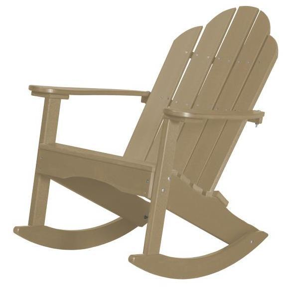 Little Cottage Co. Classic Adirondack Rocker Chair Weathered Wood