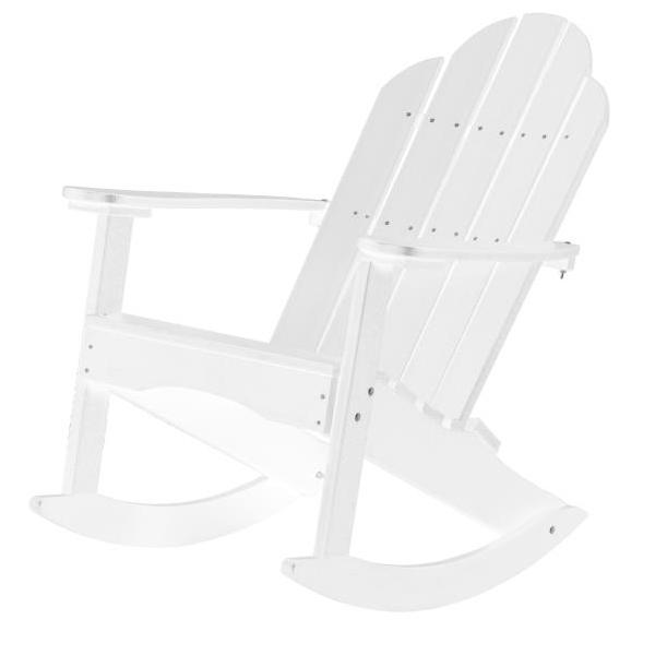 Little Cottage Co. Classic Adirondack Rocker Chair White