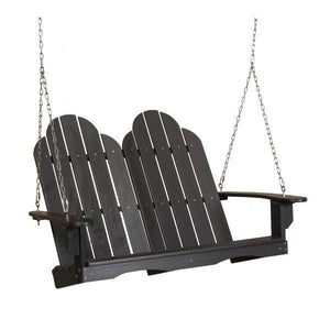 Little Cottage Co. Classic Adirondack Swing Porch Swings Black