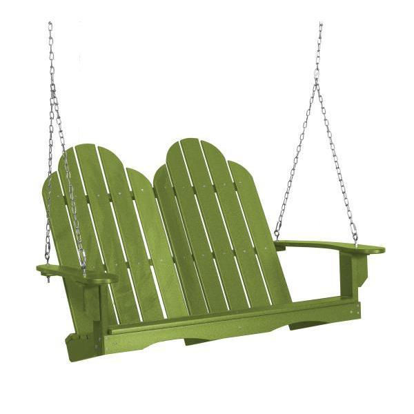 Little Cottage Co. Classic Adirondack Swing Porch Swings Lime