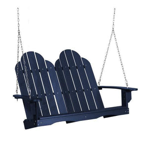 Little Cottage Co. Classic Adirondack Swing Porch Swings Patriot Blue
