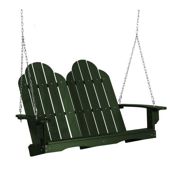 Little Cottage Co. Classic Adirondack Swing Porch Swings Turf Green