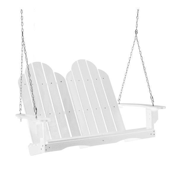 Little Cottage Co. Classic Adirondack Swing Porch Swings White