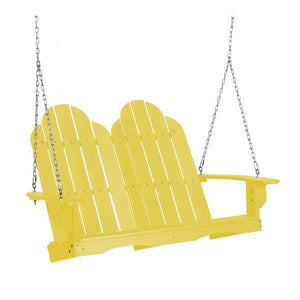 Little Cottage Co. Classic Adirondack Swing Porch Swings Yellow