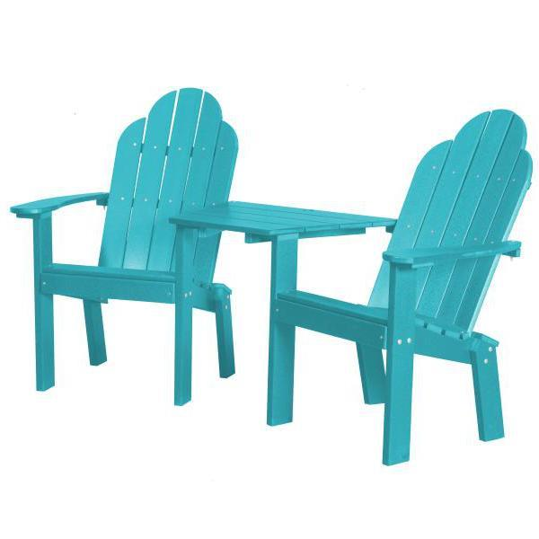 Little Cottage Co. Classic Deck Chair Tete-a-Tete Garden Benches Aruba Blue
