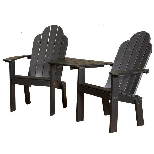 Little Cottage Co. Classic Deck Chair Tete-a-Tete Garden Benches Black